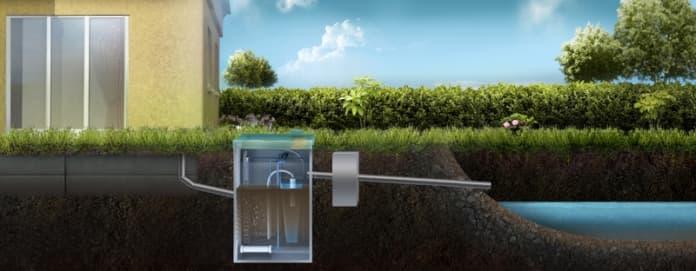Отвод очищенной воды в водоем (возможен только через блок доочистки)